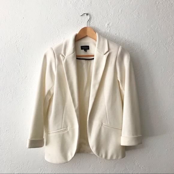 Topshop Jackets & Blazers - Topshop - Ponte jet pocket blazer off white